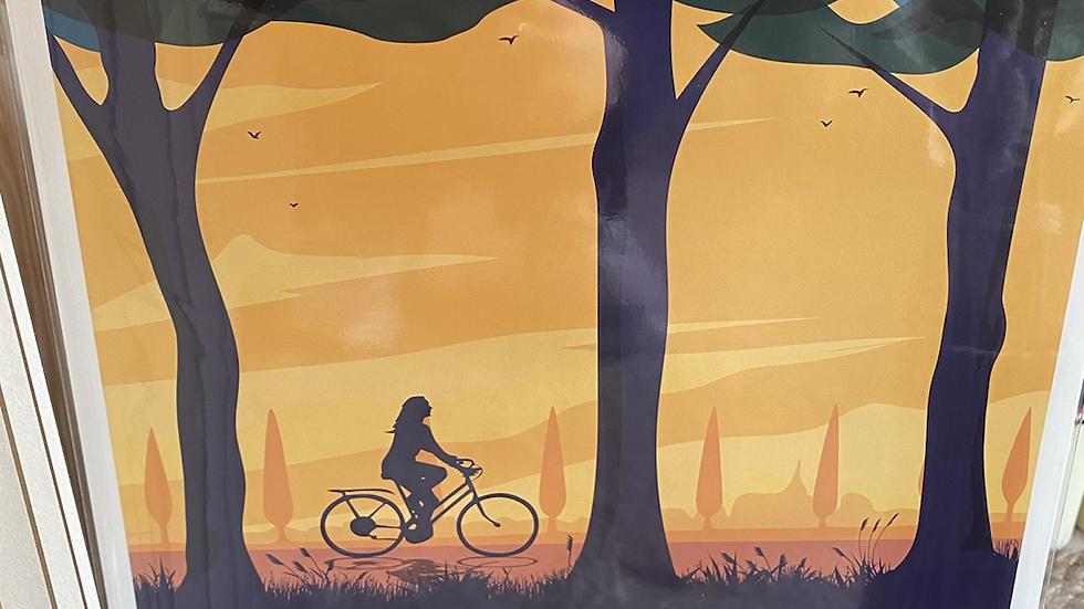 Affiche Canal du Midi Vélo