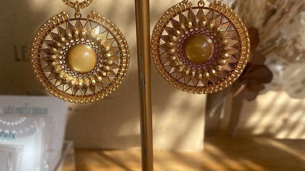 Boucles d'oreille kaly dorées