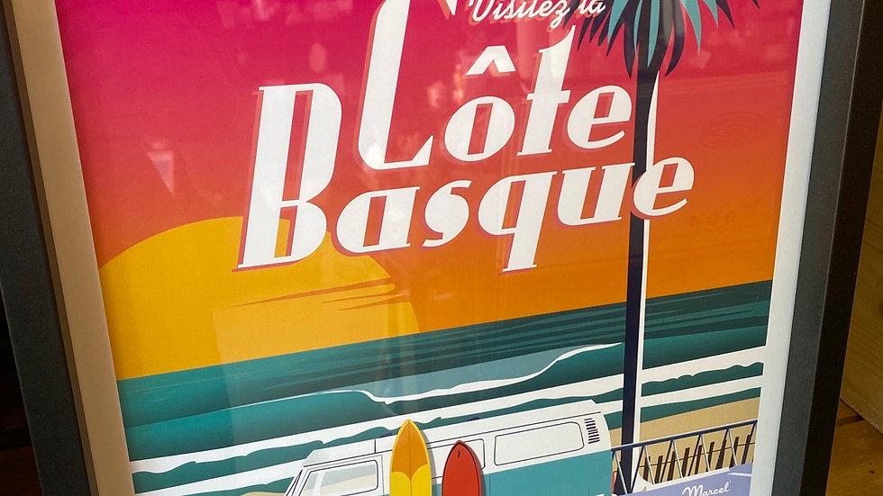 Affiche Côte Basque