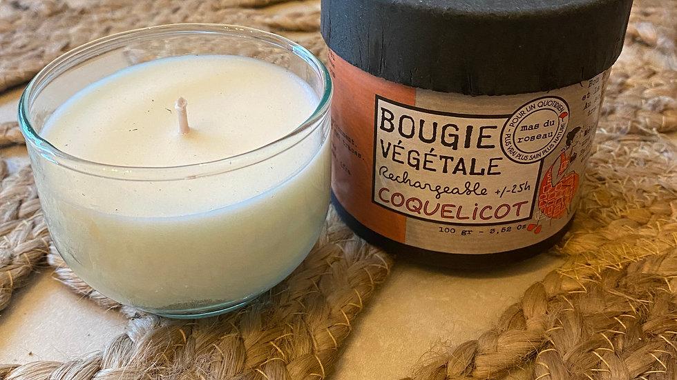 Bougie Coquelicot
