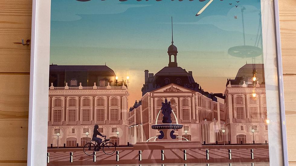 Affiche Bordeaux Place de la Bourse