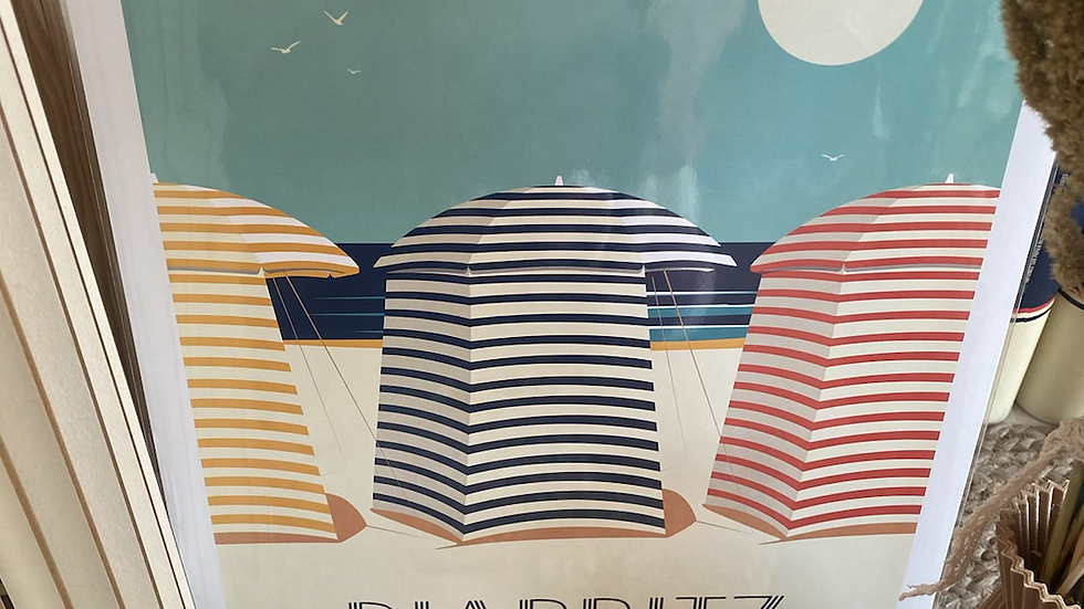 Affiche Biarritz Tentes