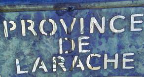 """Panneau """"province de Larache"""""""