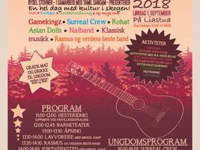 Familiefestival med egen ungdomsdel - Lørdag 1. september 2018
