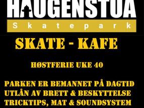 Haugenstua Skatehall/skatekafe er åpen i høstferien 2019