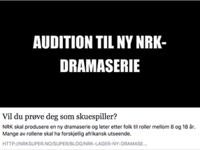 Vil du forsøke deg som skuespiller?