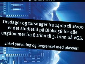 Studietid for ungdom på Blokk 58