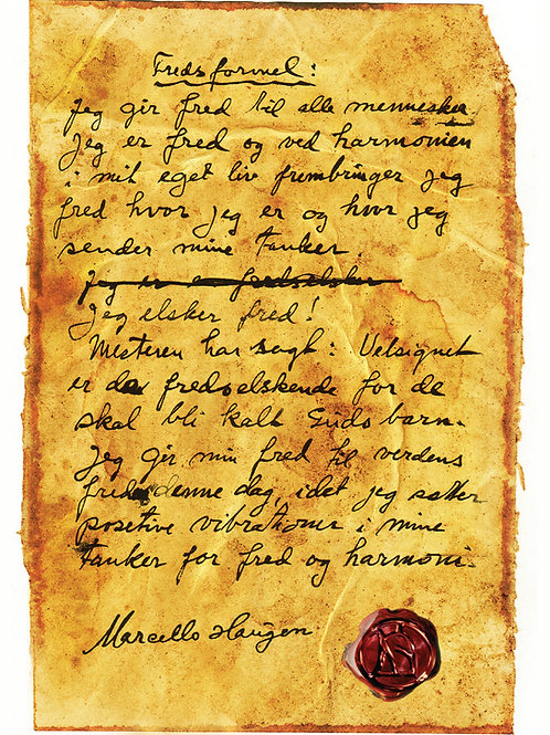 Marcello Haugens Fredsformel (5 stk. postkort)