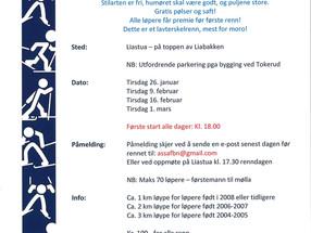 HSIL Langrenn inviterer til Karusellrenn i Liaskogen