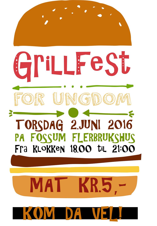 GRILLFEST FOR UNGDOM TORSDAG 2. JUNI FRA 18:00 til 21:00