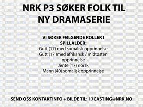 NRK P3 søker folk til ny dramaserie