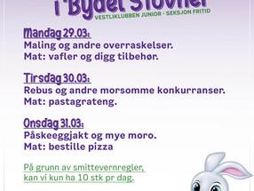 Juniortilbud i Påsken 2021 ved Vestliklubben og Blokk 58, i Bydel Stovner