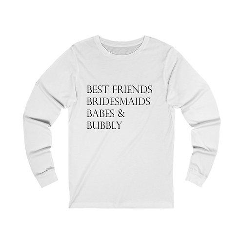 "Unisex ""Best Friends"" Long Sleeve Tee 2XL"