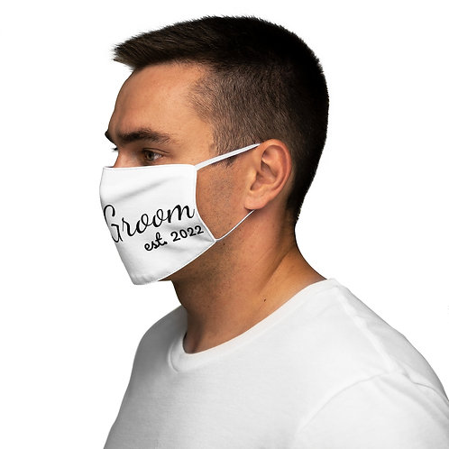 White Groom 2022 Face Mask