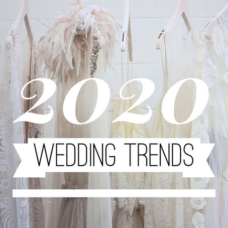 Top Wedding Trends in 2020⁣