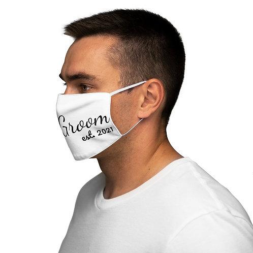 White Groom 2021 Face Mask