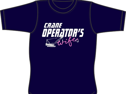 Crane Operator's Wife with crane and ring - T-shirt