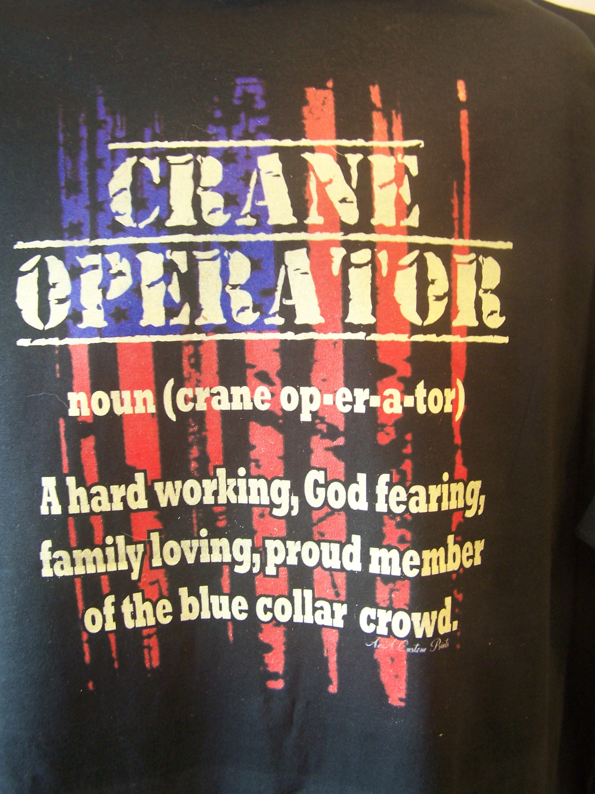 Crane Operator (noun) with Flag