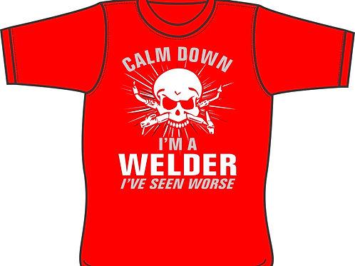 Calm Down I'm a Welder T-Shirt