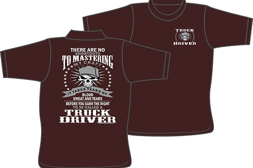 Truck Driver Mastering Craft - T-shirt