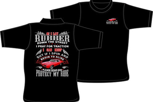 As I lay Rubber with Custom Car - T-Shirt