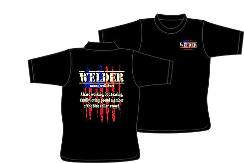 Welder (noun) T-shirt with American Flag T-Shirt