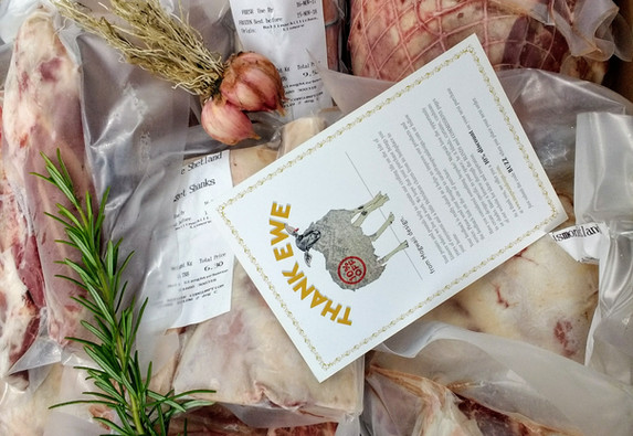 Shetland Hogget, boxed and delivered to your door.
