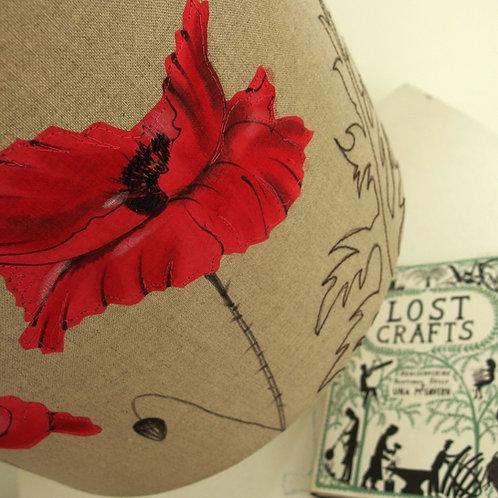 Poppy on Linen