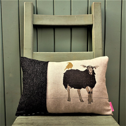 Eunice and the Golden Crow Cushion