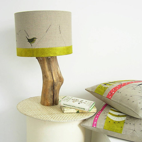 Wren and Wildflower Lampshade and Base