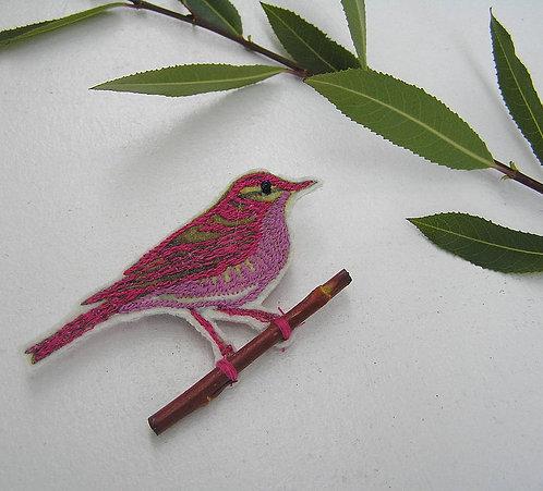 Willow Warbler Brooch