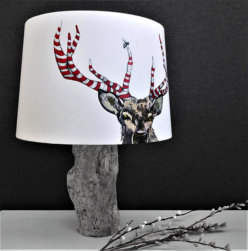 Barber Shop Stag Lampshade