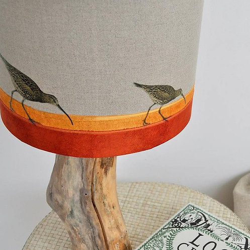 Curlew on the Shore Linen Lampshade