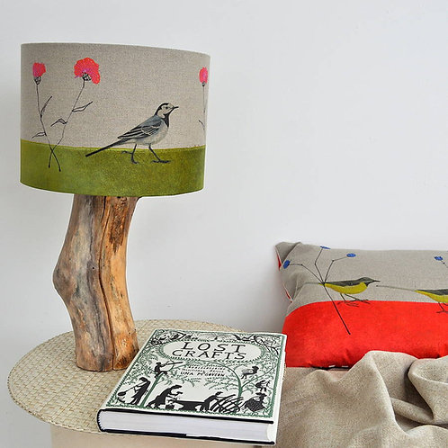 Pied Wagtail and Knapweed Lampshade and Base