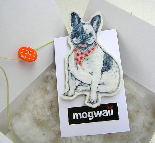 Dotty French Bulldog Brooch
