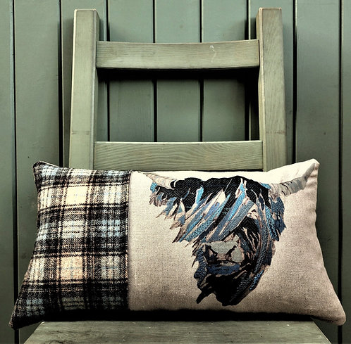 """Blue Coo"" Cushion"