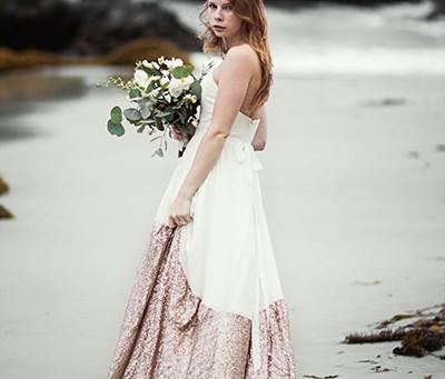 Ethereal Beach Bridal Editorial Shoot