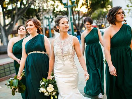 Emerald and White Wedding