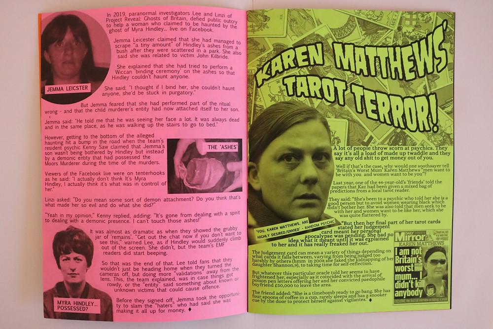 Myra Hindley 'seance' and Karen Matthews fortune teller fears!