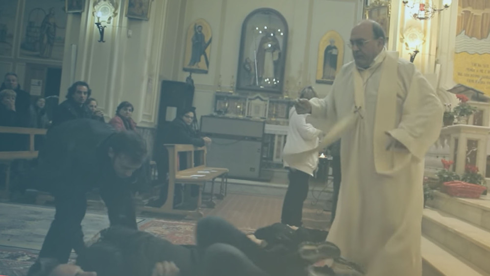 Franciscan Father Cataldo Migliazzo carries out mass exorcisms every Tuesday night