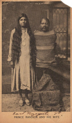 Prince Randian with his wife, Princess Sarah