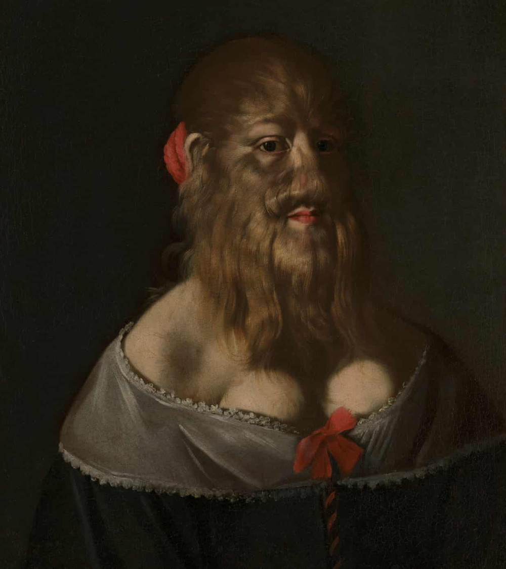 This portrait, part of the Wellcome Collection, shows her wearing fine clothes