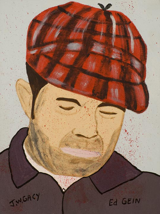 One of Gacy's paintings of Ed Gein