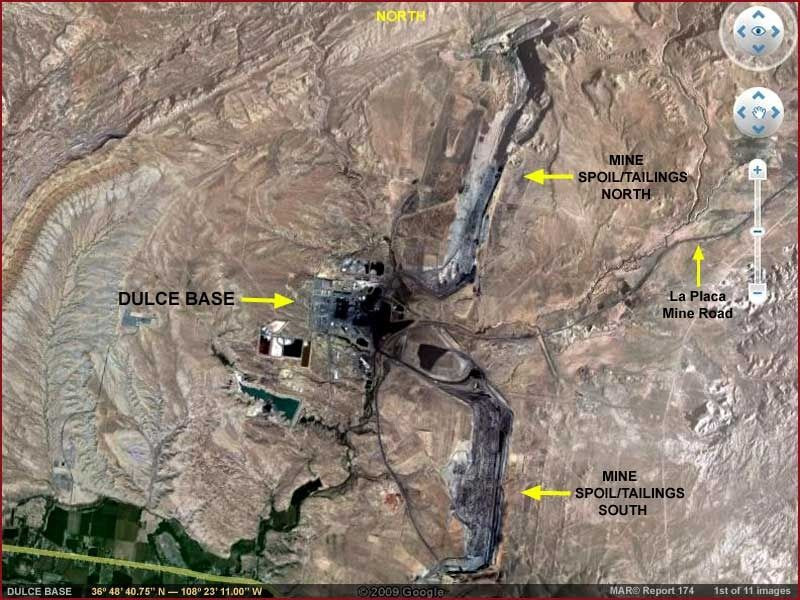 An arial view of Dulce Base in New Mexico - assuming it actually exists