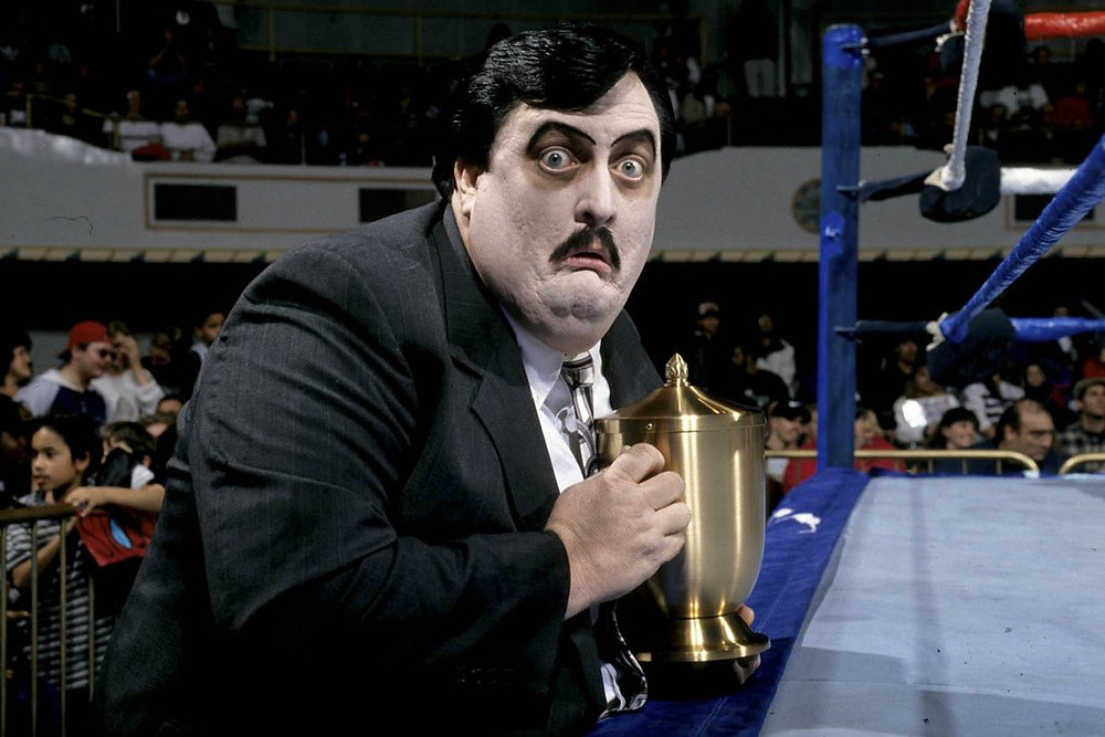 He first joined WWE in 1990, and always had his urn as a prop