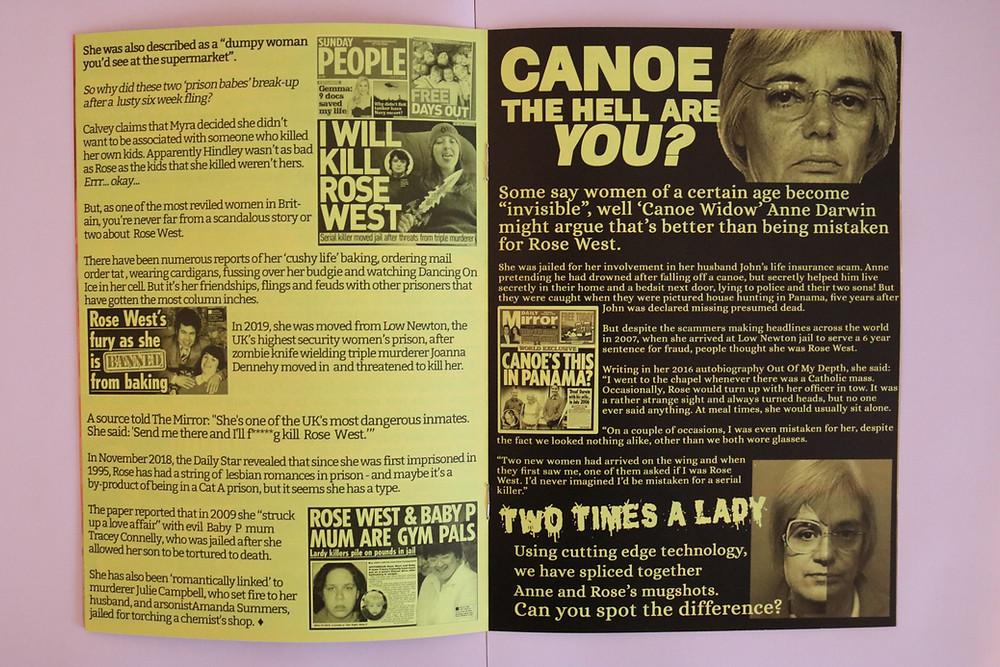 Rose West canoe widow prison