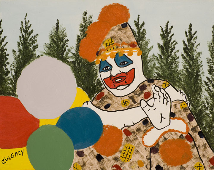 Gacy produced several self portraits of him as his clown alter ego, Pogo