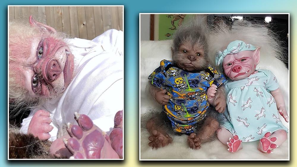were pups, reborn dolls, werewolf puppies