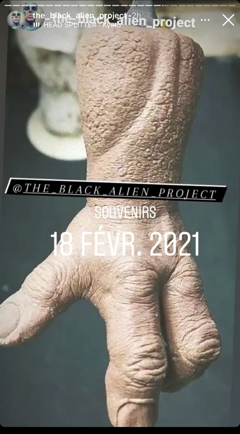 The Black Alien Project has been dropping hints for months that he will cut his fingers off