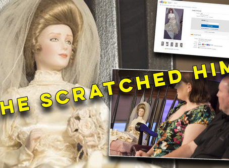 'A haunted doll scratched my husband as he slept'